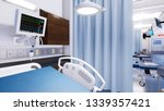 close up of empty hospital bed... | Shutterstock . vector #1339357421