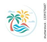 summer tropical vacation  ...   Shutterstock .eps vector #1339370687