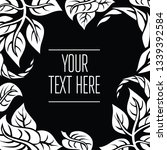 black and white vector greeting ... | Shutterstock .eps vector #1339392584