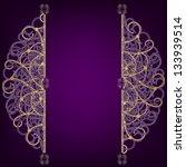 golden oriental round ornament... | Shutterstock . vector #133939514