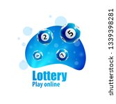 lottery realistic 3d objects...   Shutterstock .eps vector #1339398281