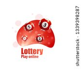 lottery realistic 3d objects...   Shutterstock .eps vector #1339398287