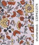vector floral seamless pattern... | Shutterstock .eps vector #1339411574