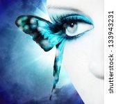 beautiful woman eye close up... | Shutterstock . vector #133943231