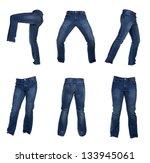 collage of men's jeans ... | Shutterstock . vector #133945061