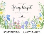 card with spring flowers.... | Shutterstock .eps vector #1339456094