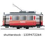 vintage tram. typical tram of... | Shutterstock .eps vector #1339472264