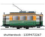 vintage tram. typical tram of... | Shutterstock .eps vector #1339472267