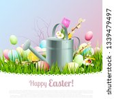sweet easter greeting card with ...   Shutterstock .eps vector #1339479497