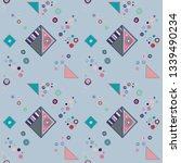 seamless vector geometrical... | Shutterstock .eps vector #1339490234