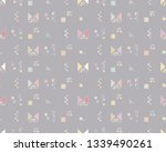 seamless vector geometrical... | Shutterstock .eps vector #1339490261