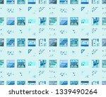 seamless vector geometrical... | Shutterstock .eps vector #1339490264