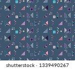seamless vector geometrical... | Shutterstock .eps vector #1339490267