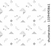 seamless vector geometrical... | Shutterstock .eps vector #1339490861