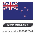 flag of new zealand drawing by...   Shutterstock .eps vector #1339492064