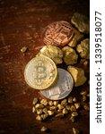 gold bitcoin physical bitcoin...   Shutterstock . vector #1339518077