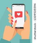 Sending Love Message Concept....