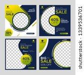editable post template social... | Shutterstock .eps vector #1339536701