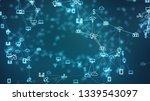 global network concept. iot... | Shutterstock . vector #1339543097
