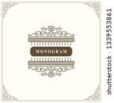 monogram graceful template....   Shutterstock .eps vector #1339553861
