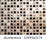half clean and dirty white wall ... | Shutterstock . vector #1339562174