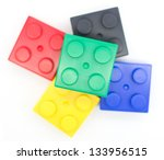 lego plastic building blocks... | Shutterstock . vector #133956515