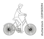 man riding bicycle | Shutterstock .eps vector #1339585094