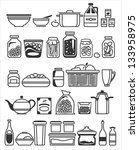 kitchen tools and utensils.... | Shutterstock .eps vector #133958975