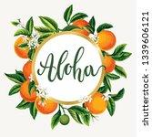 tropical hawaiian flyer with... | Shutterstock .eps vector #1339606121