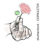 vector illustration of pink... | Shutterstock .eps vector #1339612724