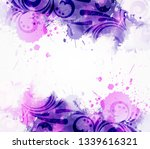 abstract background with... | Shutterstock .eps vector #1339616321