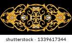 golden arabesque with diamonds | Shutterstock . vector #1339617344