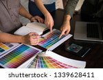 graphic designers choose colors ... | Shutterstock . vector #1339628411