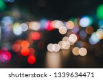 defocused night city life  cars ...   Shutterstock . vector #1339634471