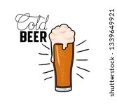 cold beer label isolated icon | Shutterstock .eps vector #1339649921