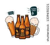 bottle of beer and glass... | Shutterstock .eps vector #1339650221
