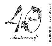 40 years anniversary. happy... | Shutterstock .eps vector #1339657274