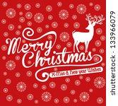 xmas deer and happy new year ...   Shutterstock .eps vector #133966079