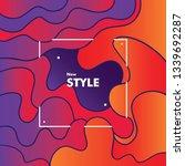 abstract dynamic 3d gradation... | Shutterstock .eps vector #1339692287