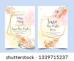 wedding floral watercolor style ... | Shutterstock .eps vector #1339715237