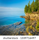 early morning view of a small... | Shutterstock . vector #1339716497