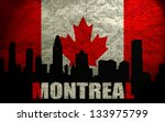 view of  montreal on the grunge ... | Shutterstock . vector #133975799