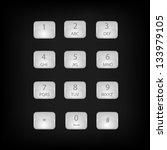 vector number phone keypad... | Shutterstock . vector #133979105