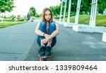 girl schoolgirl 13 14 years old ... | Shutterstock . vector #1339809464