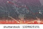 design gps map city . beautiful ... | Shutterstock .eps vector #1339825151