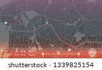 design gps map city porty... | Shutterstock .eps vector #1339825154