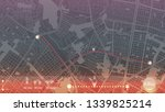 design gps map city bogota.... | Shutterstock .eps vector #1339825214