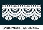lace fabric border design | Shutterstock .eps vector #1339835867