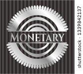 monetary silver shiny emblem | Shutterstock .eps vector #1339842137
