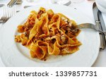pappardelle al rag  with...   Shutterstock . vector #1339857731